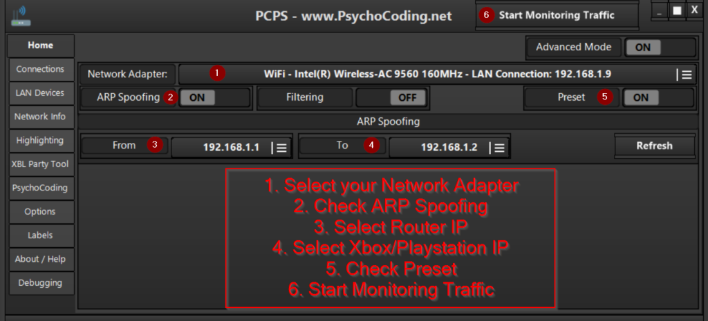 how to use lanc remastered pcps